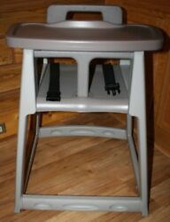 CSL KOALA KARE Diner High Chair KB850-01 Grey Plastic ASSEMBLED comes with Tray