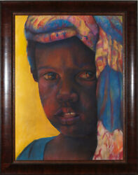 Please Original Pastel Curtis James African American Art Print
