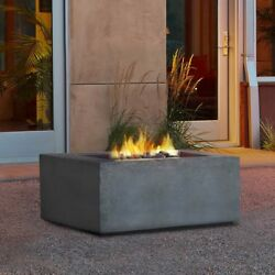 Real Flame Baltic Square Natural Gas Fire Table Glacier Gray
