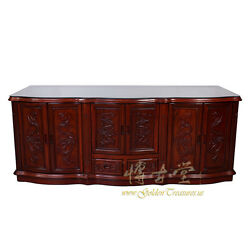 Vintage Chinese Carved Rosewood MOP inlay Entertainment Center TV Stand 17LP06