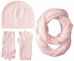 Sofia Cashmere Womens Gift Box Set-Hat Smartphone Gloves and Infinity Scarf