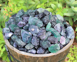 500 Carat Bulk Lot Natural Rough Fluorite Raw Crystal Rock Healing 100 Grams $6.80
