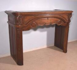 Antique French Louis XV Style Oak Fireplace SurroundMantel