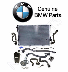 For BMW E39 Radiator Thermostat Water Pump Expn. Tank Hoses Level Sensor OES Kit