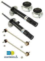For BMW 3' E46 318i Euro Pair of Front Struts w Mounts & Sway Bar Links Kit