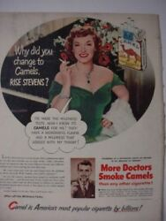 1951 Rise Stevens Actress Camel Cigarettes Why did she Change? Vintage Ad 00288