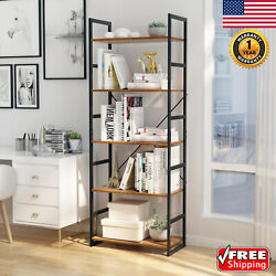 5 Tier Wooden Bookshelf Rack Shelf Unit Storage Organizer Cabinet Home Furniture