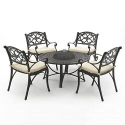 Oregon Aluminium Firepit Collection(1 table 4 arm chairs)
