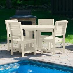 Weatherly 5-piece Round Outdoor Dining Set