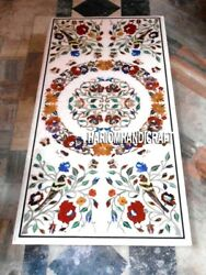 Floral Art Outdoor Mosaic Marble Dining Table Inlaid Marvelous Patio Decor H3231