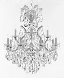 Made With Swarovski Crystal Maria Theresa Chandelier Lights Fixture Pendant $647.25