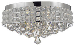 Flush Mount French Empire Crystal Chandelier Crystal Chrome $93.46