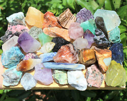 12 lb Lot Bulk Crafters Gems Crystals Natural Rough Raw Mineral Rocks 8 oz