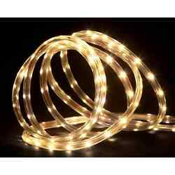 288' Commericial Grade Warm White LED IndoorOutdoor Christmas Rope Lights on a