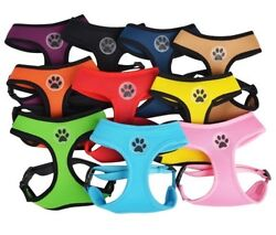 Dog Puppy Soft Breathable Mesh Harness - Paw Design - 10 Colors - XS S M L $7.49