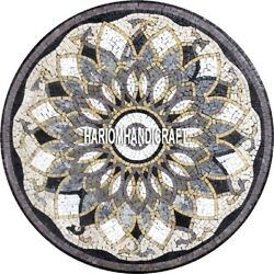 Marble Beautiful Table Dining Outdoor Mosaic Cubes Traditional Patio Decor H3904