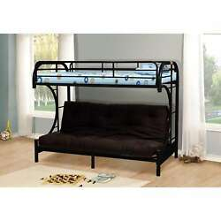 LYKE Home Chelsea Twin-over-full C-shape Futon Bunk Bed
