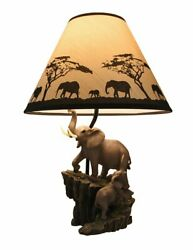 Resin Table Lamps Elephants On Expedition Sculptural Table Lamp W Decorative $75.45