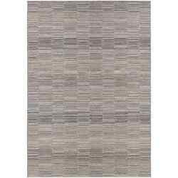 Couristan Cape Fayston Silver-Charcoal IndoorOutdoor Rug - 6'6 x 9'6