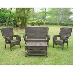San Tropez Resin Wicker 4-piece Outdoor Seating Group