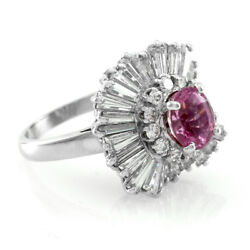 Ring-Dant Pink Sapphire & Diamond Ballerina Ring Pendant in Platinum  FJ