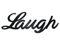Laugh Word Art Sign Home Kitchen Decor Wall Hanging Cursive Script Typography $8.99
