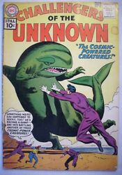 CHALLENGERS OF THE UNKNOWN  #20 Silver Age DC 1961 COSMIC POWERED CREATURES...VG