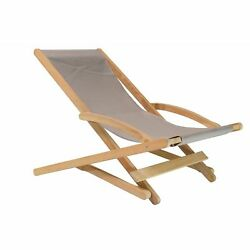Stella Outdoor Teak Folding Lounge Chair