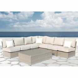 Chelsea Grey Wicker 8-piece Patio Sectional Outdoor Furniture Sofa Set  Set by