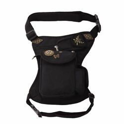 Gothic Women Steampunk Waistbag Rock Leg Hip Holster Waist Bag