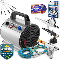 Premium Dual Action Airbrush Kit with 3 Airbrushes $101.99