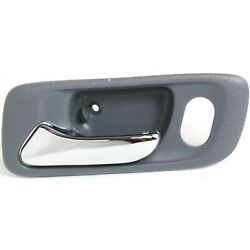 Door Handle For 1998-2002 Honda Accord Front Left Gray wChrome LeverLock Hole