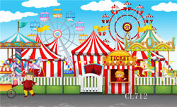 Carnival Circus Party Banner Photo Backdrop Vinyl Photography Background 10X5FT $12.49
