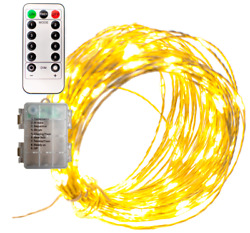 LED Fairy Lights Wire String Decorative Lighting Battery Operated 120L 40FT