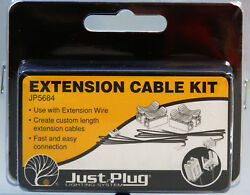 WOODLAND SCENICS EXTENSION CABLE KIT FOR JUST PLUG LIGHTING SYSTEM wire WDS5684 $6.64