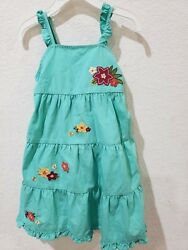 NWT Gymboree Girls Tropical Flower Dress Yellow Size 3T