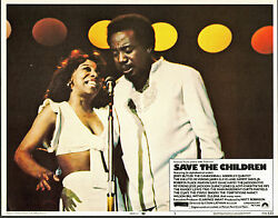 JERRY BUTLERGLADYS KNIGHT orig lobby card SAVE THE CHILDREN 11x14 movie poster
