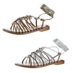 Vince Camuto Layla Women's Leather Strappy Braided Trendy Gladiator Sandal Shoes