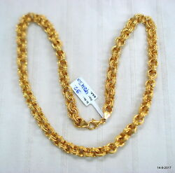 Vintage 22kt gold chain necklace handmade gold chain gold jewelry
