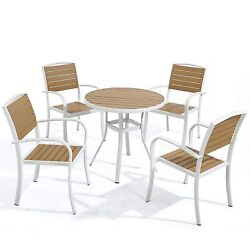 D+ Garden 5 Piece Patio Coffee Bistro Set 31.5