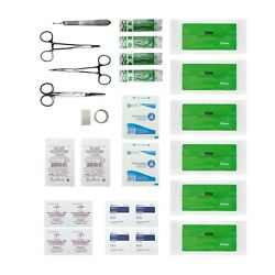 Advanced Surgical Suture Kit First Aid Medical Travel Trauma Pack 29 Pieces