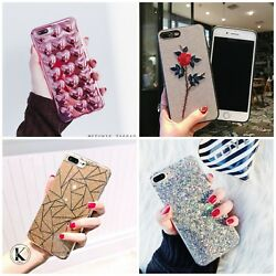 Bling Glitter Cute Phone Case Protective Cover for Girls For iPhone Xs 7 8 Plus $6.99