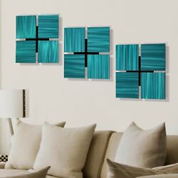 Set of 3 Metal Wall Art Sculptures Office Decor Wall Accents Various Colors $219.00
