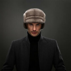 Winter Russian Style Full pelt Mink Fur Bomber Hats Real Mink Fur Earmuffs Hat $169.45