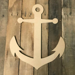 Wooden Anchor Cutout Wood Anchor Shape Wall Art Shape Paintable Wall Craft