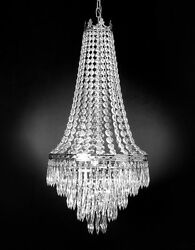 FRENCH EMPIRE CRYSTAL CHANDELIER LIGHTING 4 LIGHTS FIXTURE PENDANT CEILING LAMP $138.16