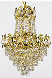 FRENCH EMPIRE CRYSTAL CHANDELIER LIGHTING FIXTURE PENDANT CEILING LAMP GOLD 4LTS $92.39