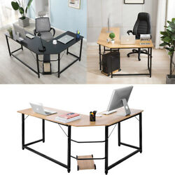 L-Shaped Corner Computer Desk Home Office Study Laptop PC Work Table $122.90