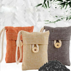 Car Air Purifying Bag Nature Fresh Style Charcoal Bamboo Purifier Mold Odor S $4.27