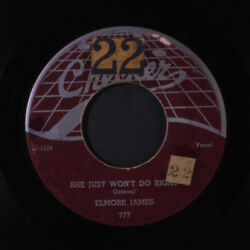 ELMORE JAMES : She Just Won't Do Right  Country Boogie 45 Hear! (1st press pl
